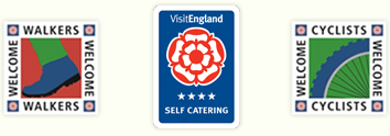 Visit England 4 star self catering, walkers and cyclists welcome