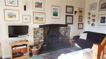 The interior of Ivy Cottage is designed with a very traditional country cottage feel